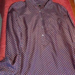 J. CREW button down silk cotton shirt